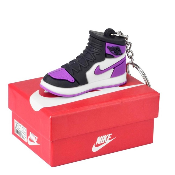 Nike Shoes Purple 3D Key Chain With Box